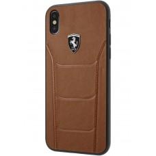 Ferrari Heritage 488 Genuine Leather Hard Case for iPhone X - Camel