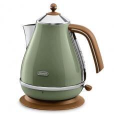 Delonghi Cordless kettle Inox 1.7L, Olive Green - KBOV2001GR