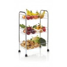 KitchenCraft, Chrome Plated Three Tier Trolley