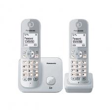 Panasonic Cordless Phone DECT, 100 Name & Number Phone book, Silver - KXTG6812BXB