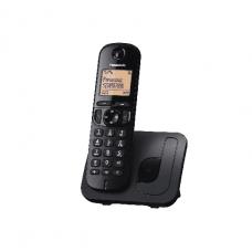 Panasonic Cordless Phone DECT, 50 Name & Number Phone Book, Black - KXTGE210BXN