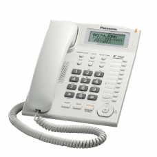 Panasonic Corded Phone DECT, 50 station caller ID memory, White - KXTS880MXW