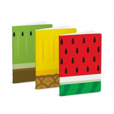 Mustard, Fruit Notebook - Set of 3 - Watermelon, Pineapple, Kiwi