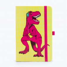 Mustard, T-Rex printed A5 notebook