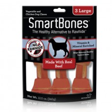 SmartBones Beef classic bone chews, Large, 3 pieces