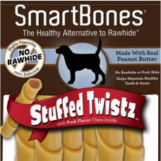 SmartBones Peanut Butter Stuffed Twistz Innovative chews, 6 pieces