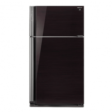 Sharp 2 Doors Refrigerator 692 Liters Glass Black