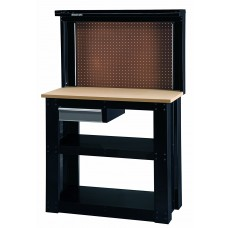 Stack-On, WB-402 Steel Reloading Workbench with Back Wall, Black