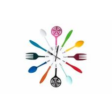 Aria, Colored Cutlery Clock