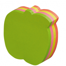 Info Notes, Sticky Notes, Apple, 200 Sheets, Neon, Pack of 6