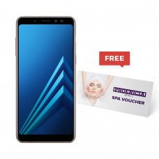 Samsung Galaxy A8(2018), Dual Sim, 4 GB Ram, 64 GB 4G LTE With a Free Selfie Stick, Screen Protector, Ring Tok Cover and 2in1 Cable + Free $180 SPA Voucher from Phoenicia Hotel
