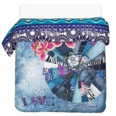 Desigual, Lollipop Duvet Double, Blue