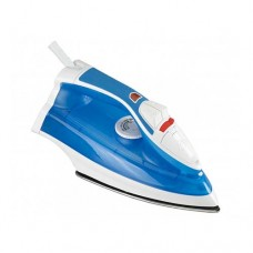 Campomatic Steam Iron 2000W  Stainless Steel Sole Plate  Blue Transparent Water Tank  2 M Cord