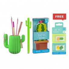 Mustard, Cactus Penpot, shaped sticky notes and Shaped pen with Free Shaped Page Markers