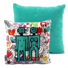 Desigual, Cushion, Mini Robots