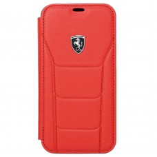 Ferrari Heritage 488 Genuine Leather Book Type Case for iPhone X - Red