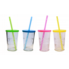 Leonardo, Summer Party With Straw Tumbler, Set of 4, 7.5X11.5 Cm