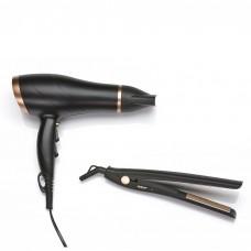 Petra, Gift set Hair dryer & straightener Hair dryer with Ionic, Straightener 200°C