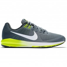 Nike Men's Air Zoom Structure 21- Gray/ Yellow