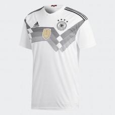 Adidas Men's Football Germany Home Replica Jersey- White& Black