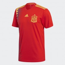 Adidas Men's Football Spain Home Replica Jersey- Red& Gold