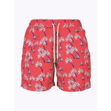 Palmacea Men's Beach Pmia6 Swim Shorts- Red& Blue