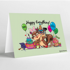 Mukagraf, Happy Everything, Greeting Card