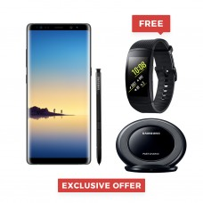 "Samsung Galaxy Note 8 Single / Dual Sim 6.3"" Quad HD+ sAmoled, 64GB, 6GB RAM, 4G LTE, Gold, Black, Orchid Gray - SM-N950 With FREE Gear Fit 2 Pro + Wireless Charger"