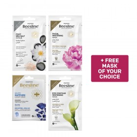 Beesline, 4 Express Masks and Get 1 Mask Free of YOUR Choice - Bundle 2