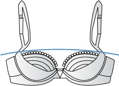 Bra band size illustration