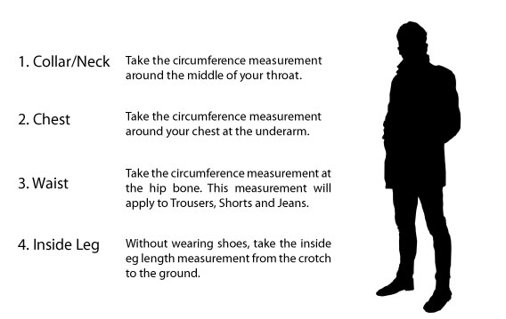 How to measure clothing size for men