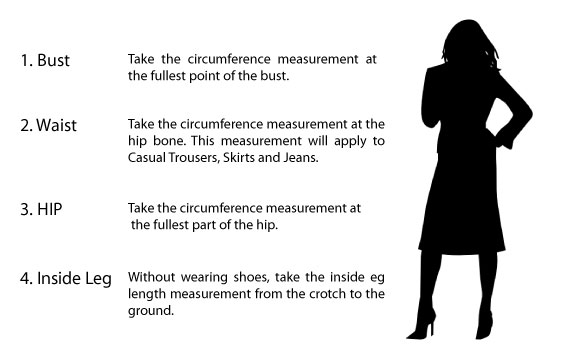 How to measure clothing size for women